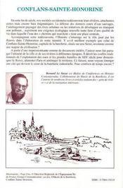 Conflans Sainte-Honorine ; histoire fluviale de la capitale de la batellerie - 4ème de couverture - Format classique