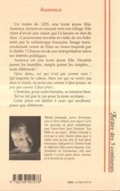 Aurenca - 4ème de couverture - Format classique
