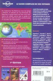 Inde du nord - 4ème de couverture - Format classique