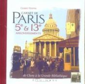 Carnet De Paris 5e Et 13e Arrondissements - Couverture - Format classique