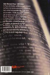 1280 Ames - 4ème de couverture - Format classique