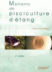 Mémento de pisciculture d'étang (4e édition) - Couverture - Format classique