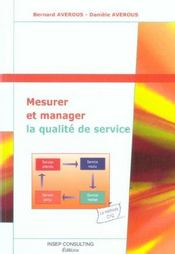 Mesurer Et Manager La Qualite De Service - Intérieur - Format classique