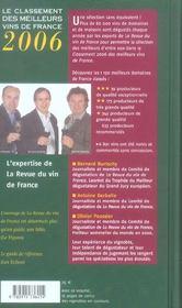 Classement des meilleurs vins de france 2006 - 4ème de couverture - Format classique