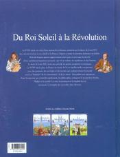 L'histoire de France t.4 ; du roi soleil à la révolution - 4ème de couverture - Format classique
