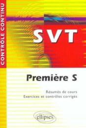 Controle Continu ; Svt ; 1ère S - Couverture - Format classique