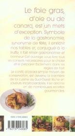 Foie gras et conflits ; les meilleures recettes - 4ème de couverture - Format classique