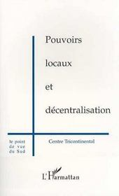 Pouvoirs Locaux Et Decentralisation - Intérieur - Format classique