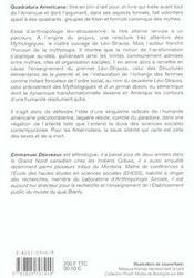 Quadratura Americana ; Essai Anthropologie - 4ème de couverture - Format classique