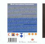 Droit internation.humanitaire - 4ème de couverture - Format classique