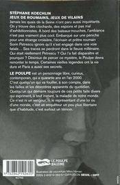 Jeux De Roumains Jeux De Vilains - 4ème de couverture - Format classique