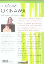 Regime Okinawa (Le) - 4ème de couverture - Format classique