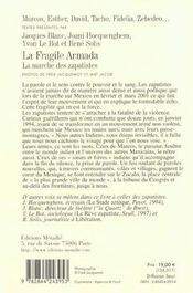 Fragile Armada. La Marche Des Zapatistes (La) - 4ème de couverture - Format classique