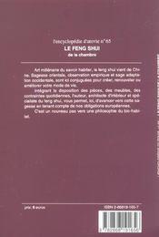Le Feng Shui De La Chambre - 4ème de couverture - Format classique