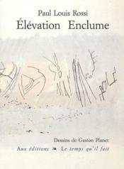 Elevation Enclume - Couverture - Format classique
