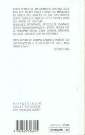 Ecrits Perdus 1929-1967 - 4ème de couverture - Format classique
