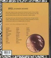 Chansons en bd t.2 ; brel en bd - 4ème de couverture - Format classique
