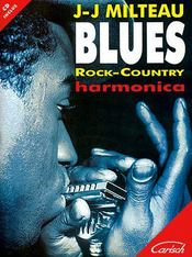 Blues, rock, country ; harmonica - Couverture - Format classique