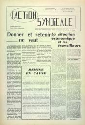 Action Syndicale (L') N°7 du 01/06/1960 - Couverture - Format classique
