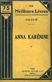 Anna Karenine. Tome 1. Collection : Les Meilleurs Livres N° 150. - Couverture - Format classique