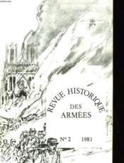 Revue Historique Des Armees - Numero 2-1981 - Couverture - Format classique