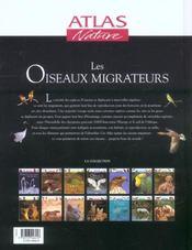 Les oiseaux migrateurs - 4ème de couverture - Format classique