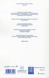 Revue Economique N.59 ; Faut-Il Financer L'Investissement Politique Par Emprunt ? - 4ème de couverture - Format classique
