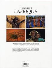 Hommage à l'Afrique - 4ème de couverture - Format classique