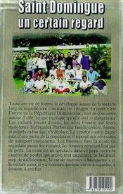 Saint-Domingue ; Un Certain Regard - 4ème de couverture - Format classique