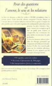 Le Tarot Des Amoureux - 4ème de couverture - Format classique