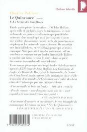 Le quinconce V ; le secret des cinq roses - 4ème de couverture - Format classique