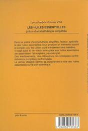 Les Huiles Essentielles ; Precis D'Aromatherapie Simplifiee - 4ème de couverture - Format classique