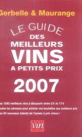 Le guide des meilleurs vins à petits prix (édition 2007) - Intérieur - Format classique