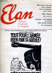 Elan Poetique Litteraire Et Pacifiste - Automne 1982 - 28eme Annee N°91 - Special Elan Cartopaix 82 Avec Cabu Cardon Jeff Sine. - Couverture - Format classique