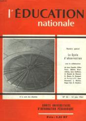 L'Education Nationale N°22 - Couverture - Format classique