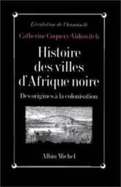Histoire des villes d'Afrique noire ; des origines à la colonisation - Couverture - Format classique