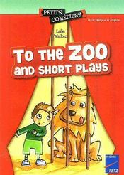 To the Zoo ; and short plays ; 8/10 ans - Couverture - Format classique