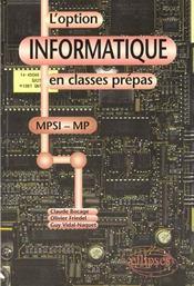 L'Option Informatique En Classes Prepas Mpsi Mp - Intérieur - Format classique
