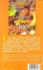 Cuisiner Nature Et Bio - 4ème de couverture - Format classique
