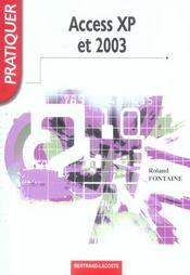 Access XP et 2003 ; livre de l'élève - Intérieur - Format classique