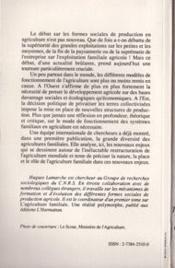 Agriculture Familiale T.2 Du Mythe A La Realite - 4ème de couverture - Format classique