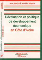 Devaluation Et Politique De Developpement Economique - Couverture - Format classique