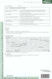 Revue Connaissance Des Religions N.60 ; Cosmologie Et Image Du Monde - 4ème de couverture - Format classique