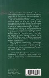 Frappe D'Aveuglement - 4ème de couverture - Format classique