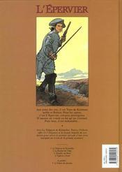 L'épervier t.1 ; le trépassé de Kermellec - 4ème de couverture - Format classique