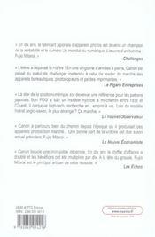 Canon - Un Recentrage Reussi - Comment Fujio Mitarai A Engage Une Strategie De Reformes Innovantes - 4ème de couverture - Format classique