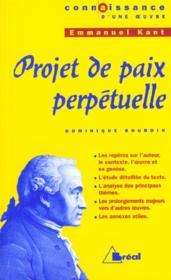 Projet de paix perpétuelle, de Kant - Couverture - Format classique
