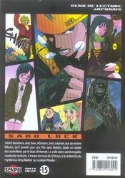 Saru lock t.2 - 4ème de couverture - Format classique