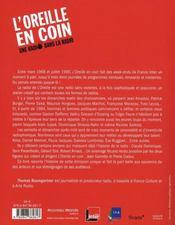 L'Oreille En Coin ; Une Radio Dans La Radio - 4ème de couverture - Format classique