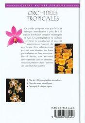 Orchidees Tropicales - 4ème de couverture - Format classique